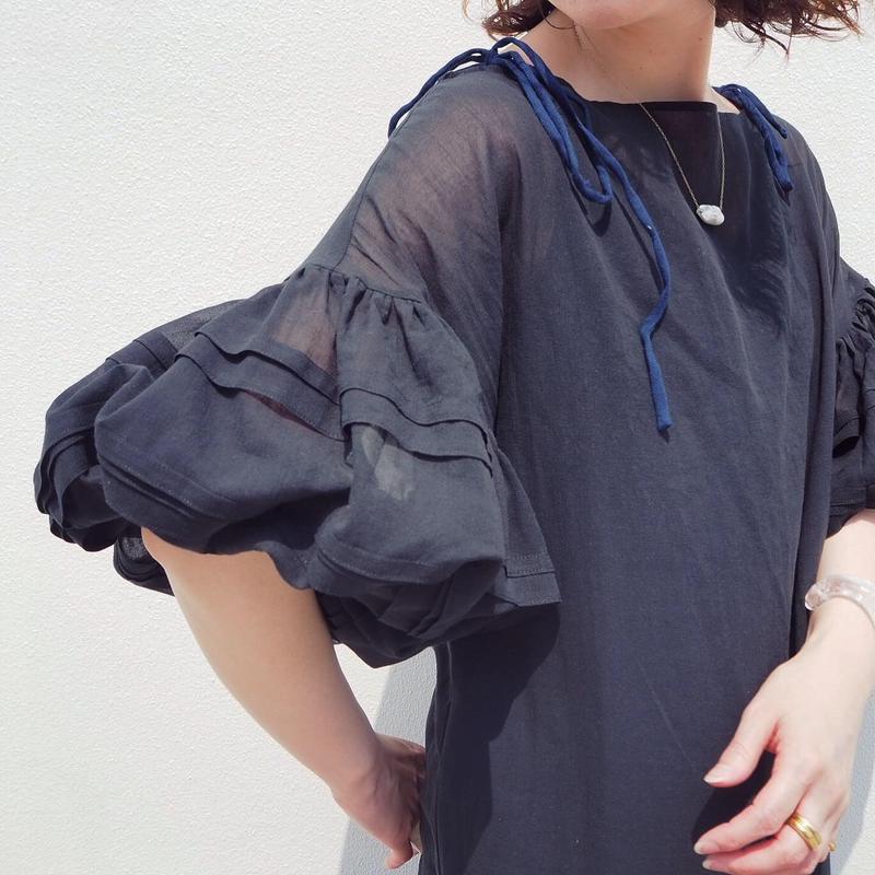 MALKA MOMA volume sleeve dress