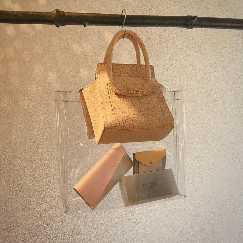KOTOHA YOKOZAWA classic Bag×PVC Bag(beige)