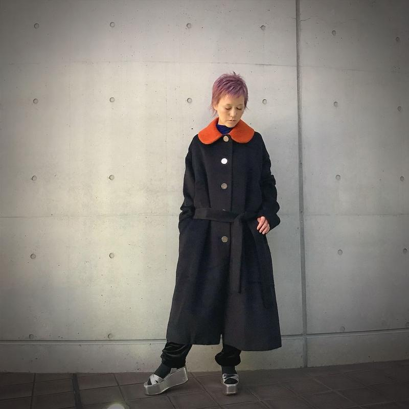 MINJUKIM mohair coat(black)