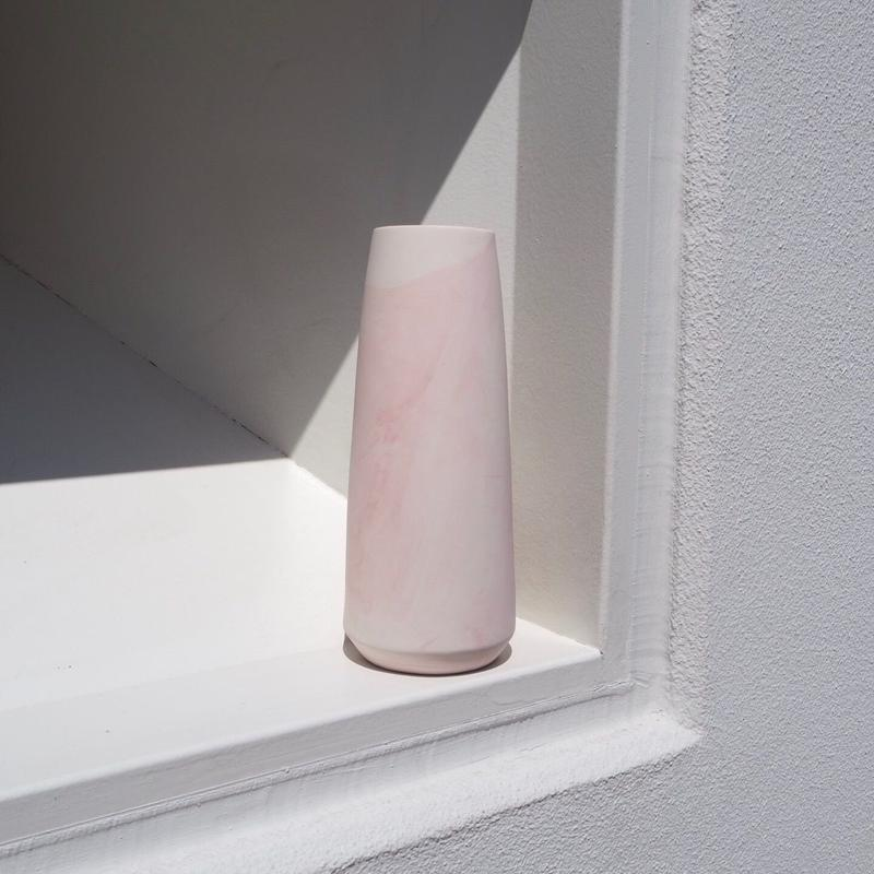 ANNE JONES pink marble pillar vase