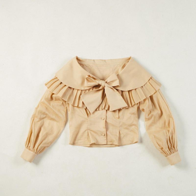 MALKA MOMA pleats blouse