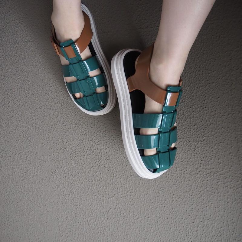 melissa   color block sandal