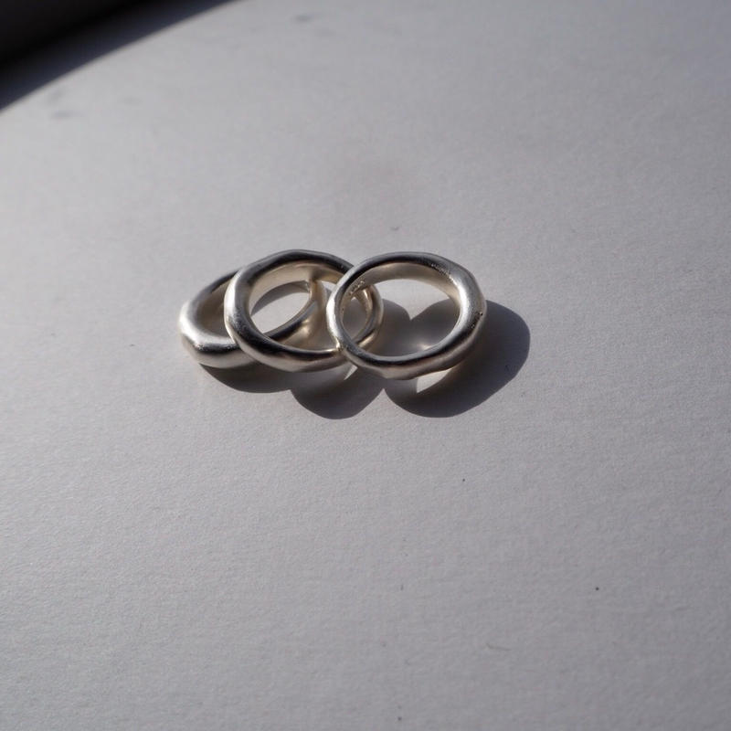 BJØRG three abstractions ring silver