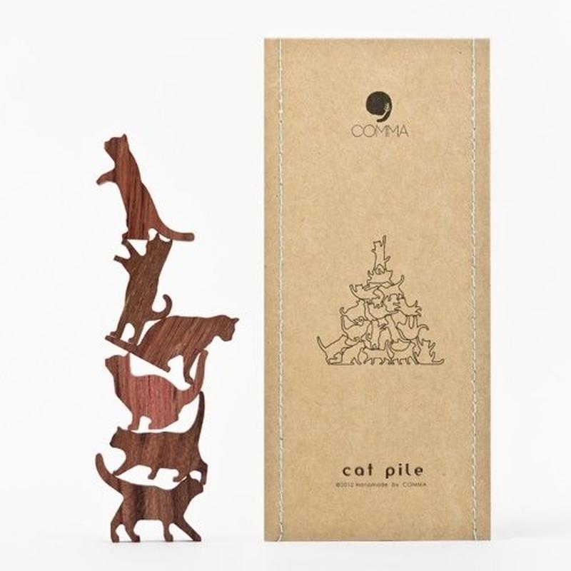 Cat Pile【ブルー】地味にはまる!大人のつみき 色んなポーズのネコジェンガ 全5種類(A73002)