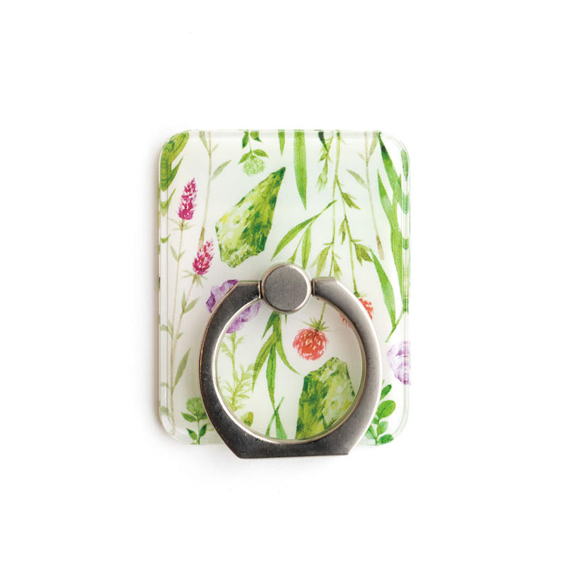 Smart phonr ring (Botanical x silver)