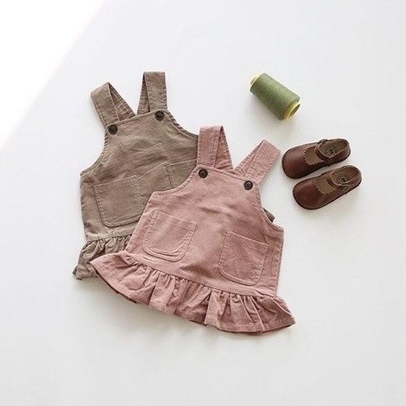 チョココーデュロイジャンパースカート(480)