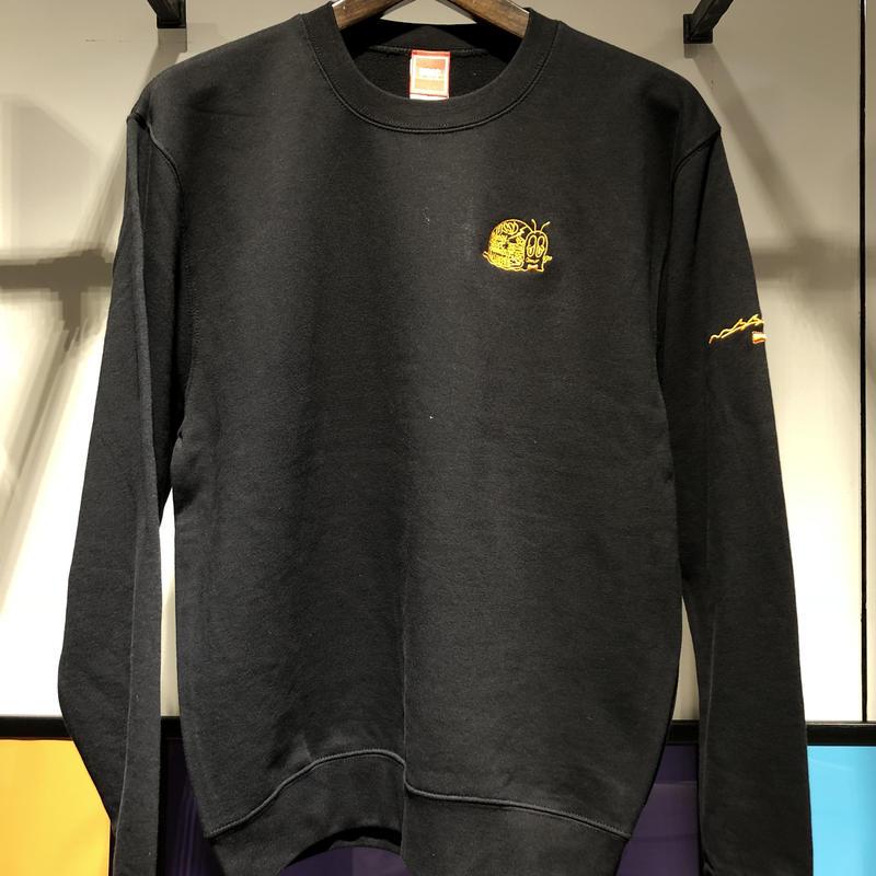 MSSDカタツムリ刺繍スウェット BLACK