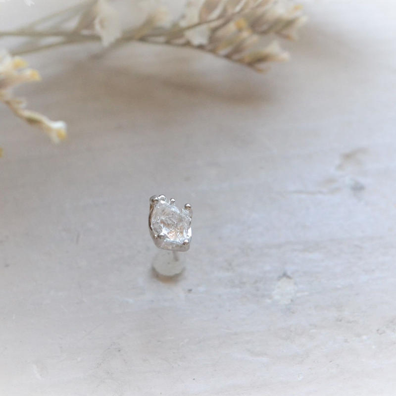 Herkimer Diamond  SV925 一粒Pierced