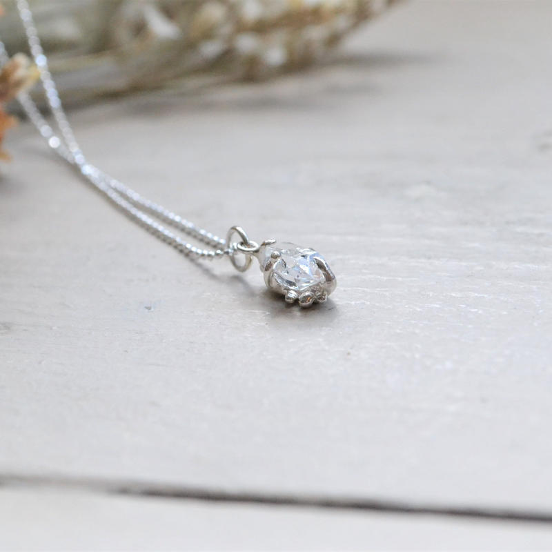 Only One!Herkimer Diamond SV925 Necklace-8-