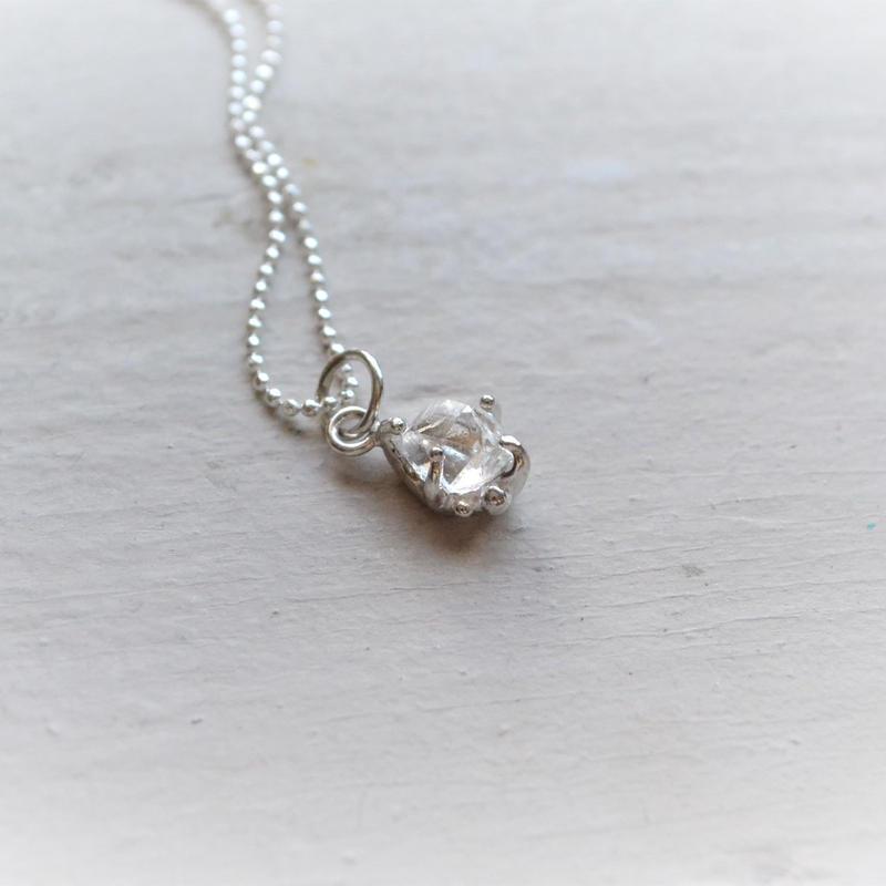 Only One!Herkimer Diamond SV925 Necklace-9-