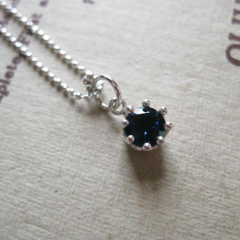 Milk Crown Necklace -Sapphire - ※受注後制作