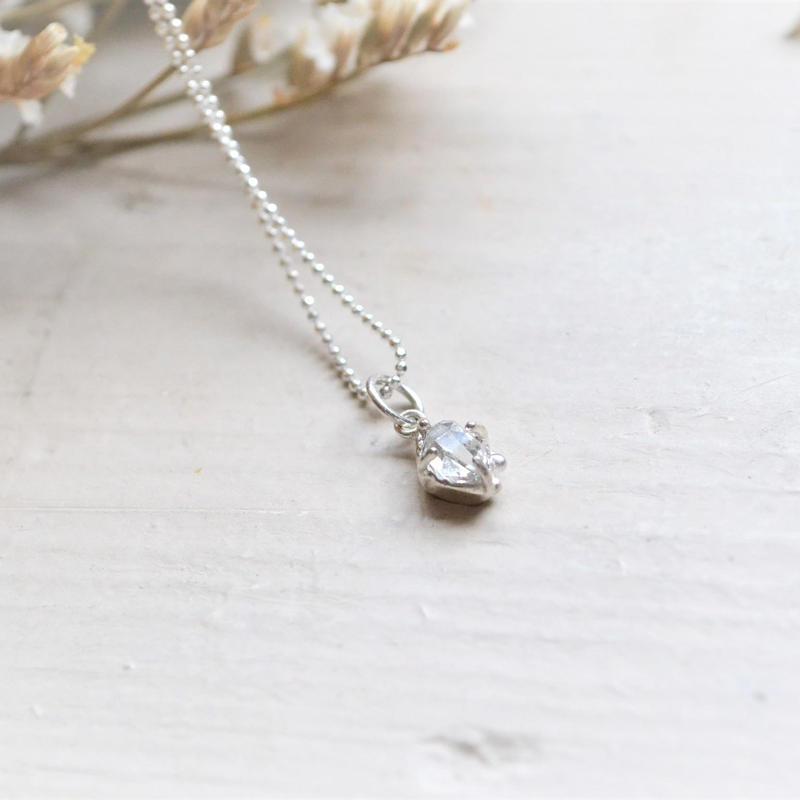 Only One!Herkimer Diamond SV925 Necklace-7-