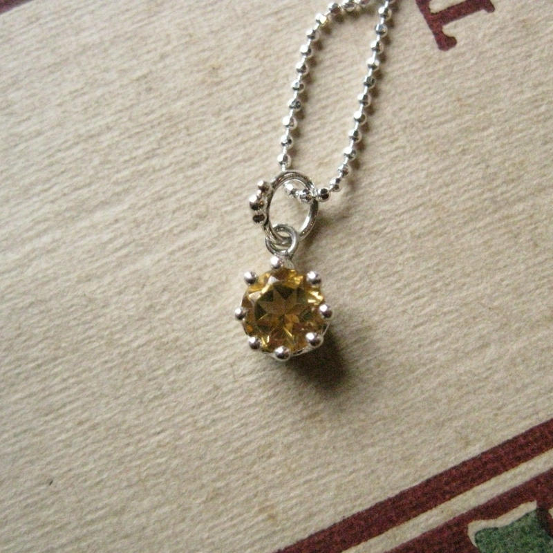 Milk Crown Necklace -Citrine Topaz/Cut-※受注後制作