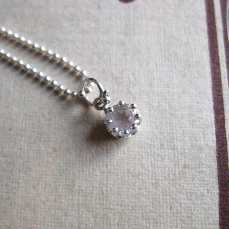 Milk Crown Necklace -Rose-quartz/Cut-※受注後制作