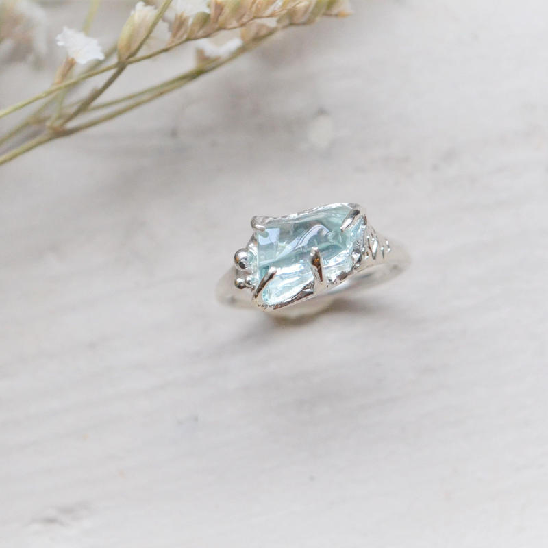 Only One /GemStone Ring  -Aquamarine-