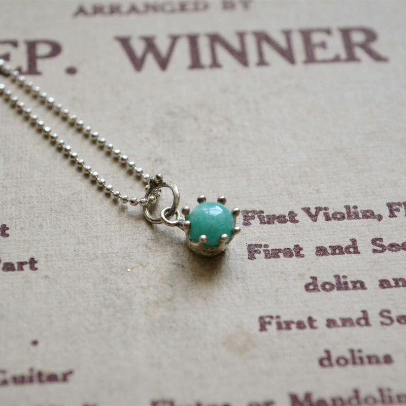 Milk Crown Necklace -Amazonite/cabos-