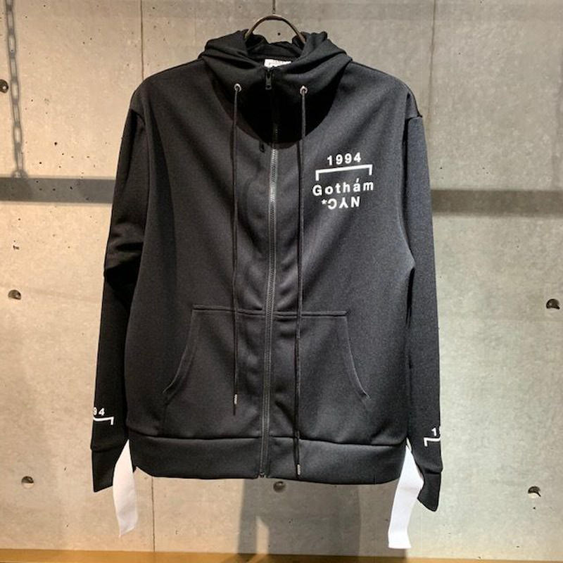 【GOTHAM NYC】ジップパーカー ブラック×ホワイト