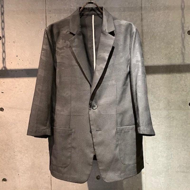 【Custom Culture】カモフラージュ七分袖ジャケット グレー