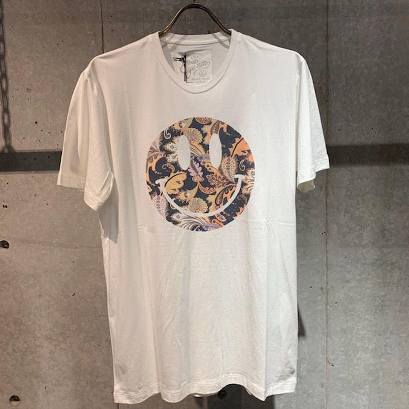 【EYE AM】スマイル柄プリントTシャツ ネイビー系