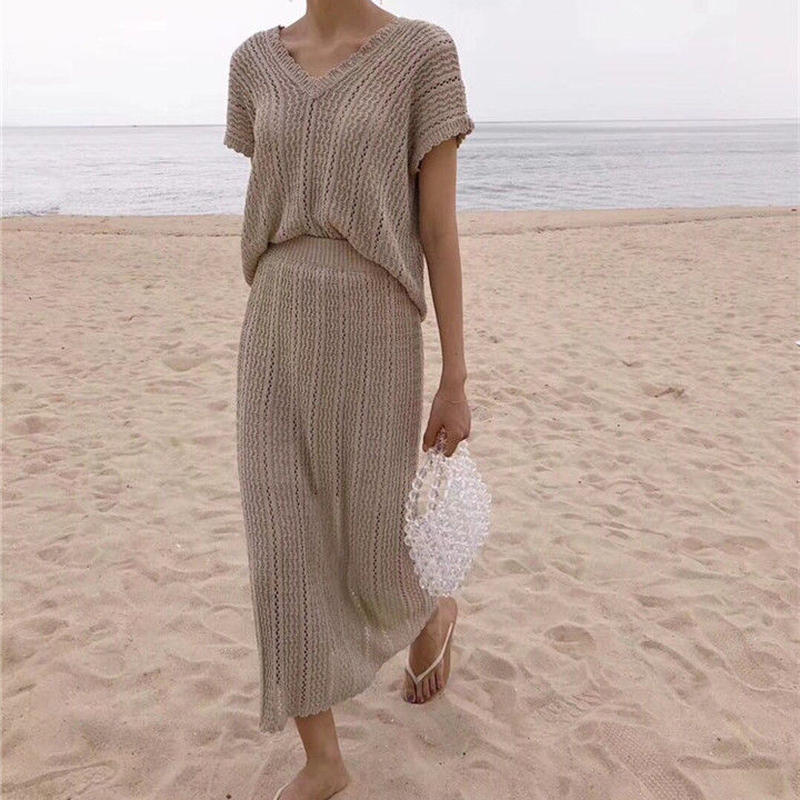summer knit  setup
