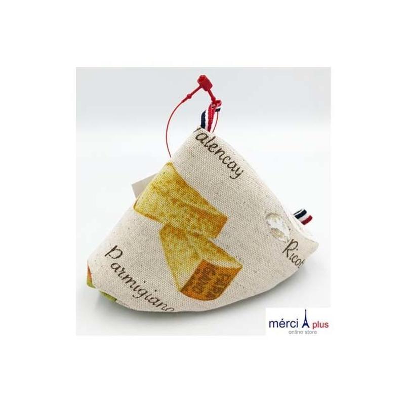Grasp triangle pot /Sサイズ/ チーズ柄