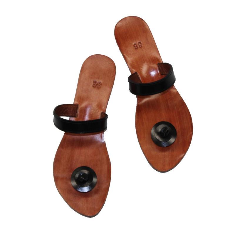 Leather Sandals / Black