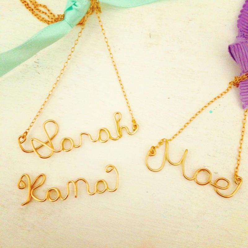 K14GF order name necklace...❤︎