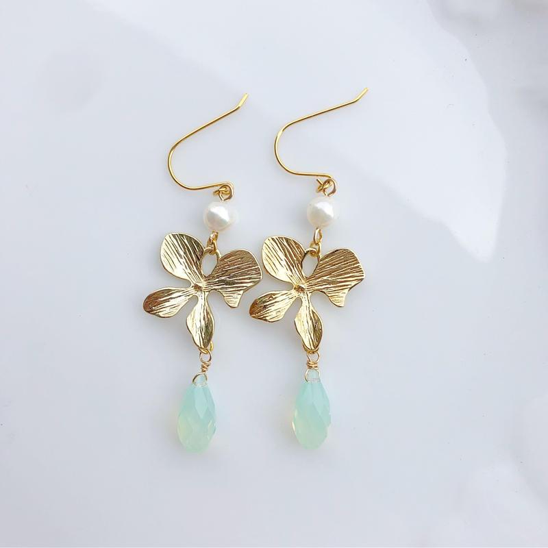 orchid earrings...❤︎
