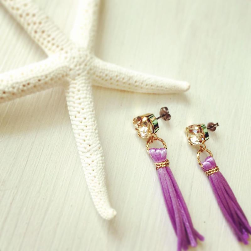 tassel earrings...❤︎