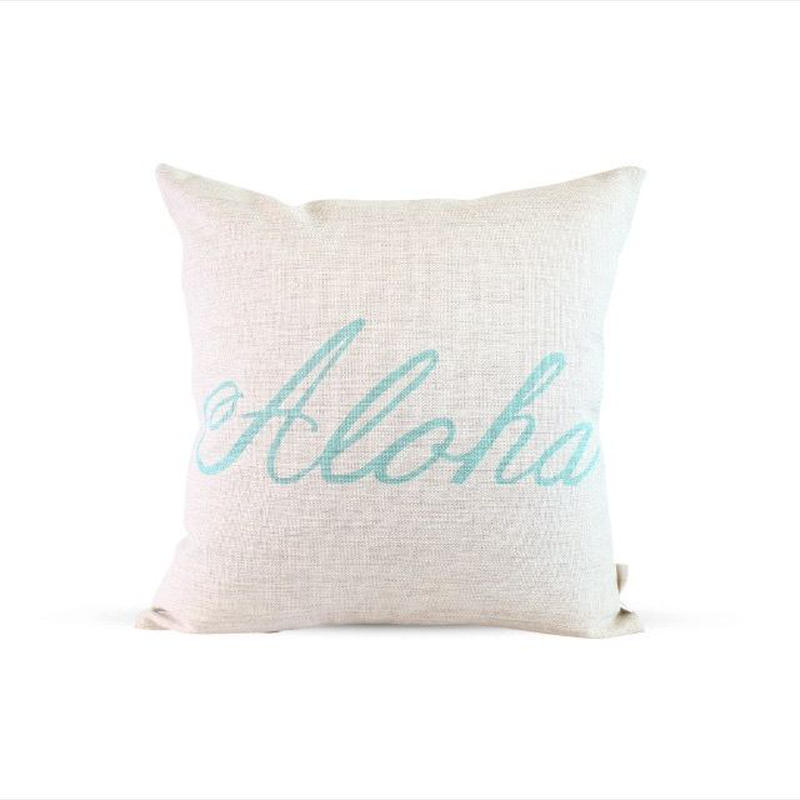 Aloha pillow cover (white)