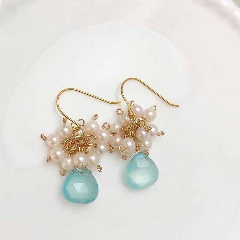 mermaid drop earrings...❤︎