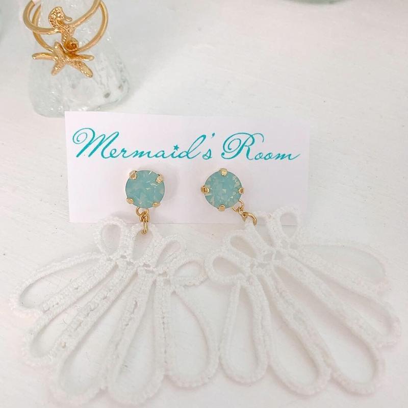 shell mint earrings...❤︎