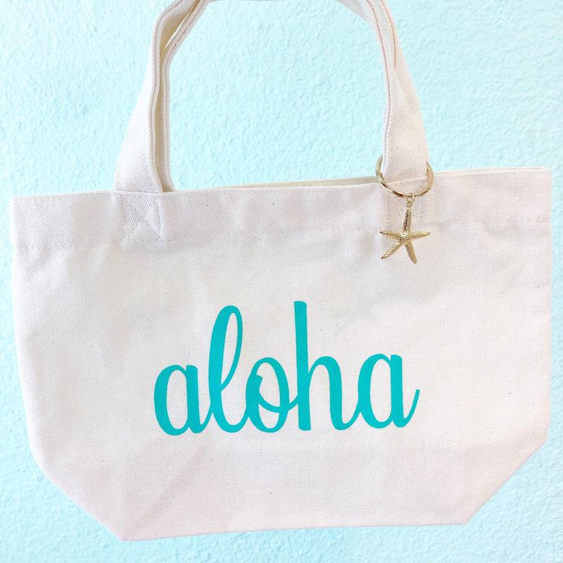 aloha mini tote...❤︎