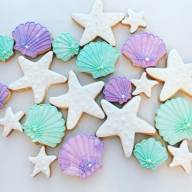 shell&starfish cookies