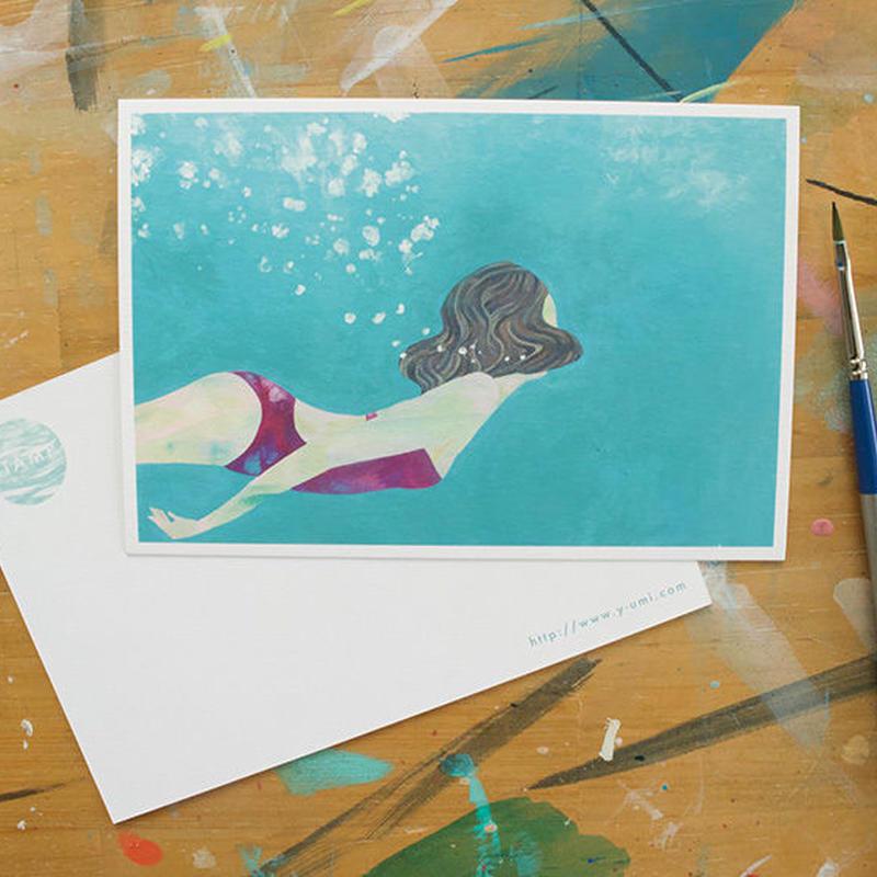 """post card """"mermaid"""""""