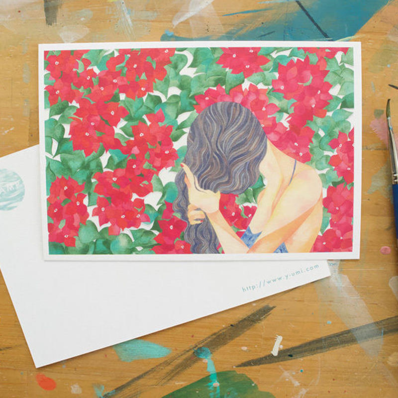 "post card ""Bougainvillea"""