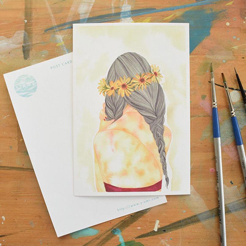 "post card "" portrait brads girl"""