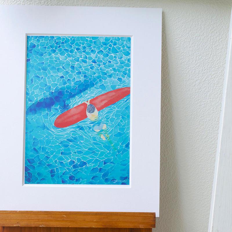 Floating mat print