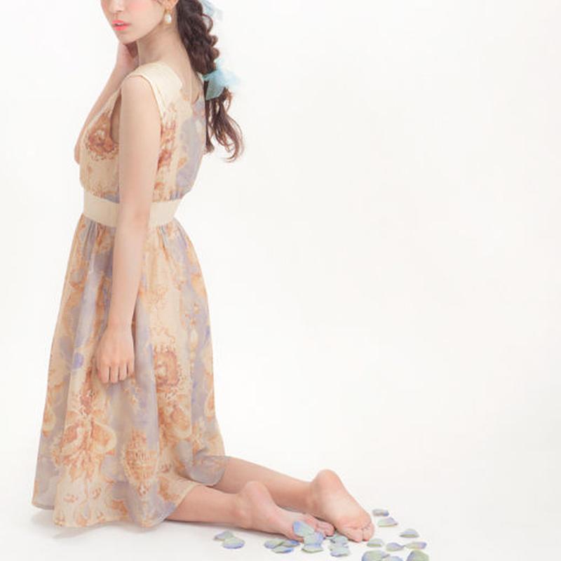 人魚の涙柄 ローンドレス -ベージュ-