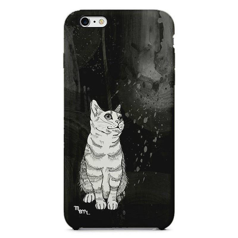 """Cat"" ネコ -black-  スマホカバー [ soft / hard ]"