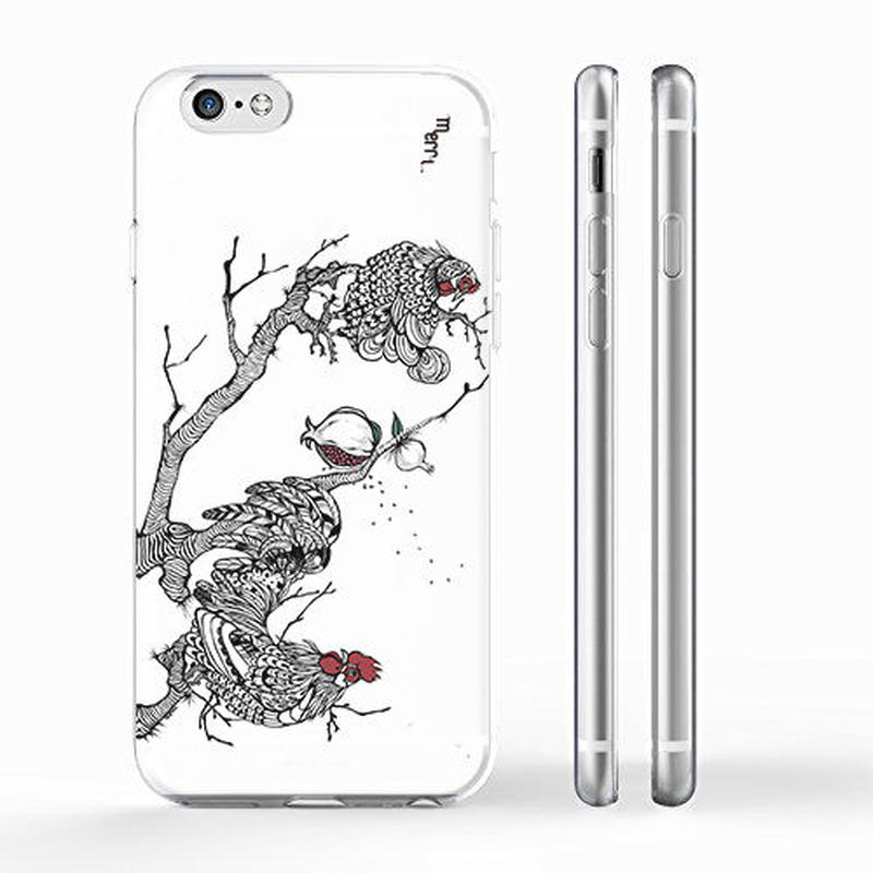 """Cock & hen"" ニワトリ iPhone 6/6s/5/5s/6plus/6s plus Cover [ soft / hard ]"
