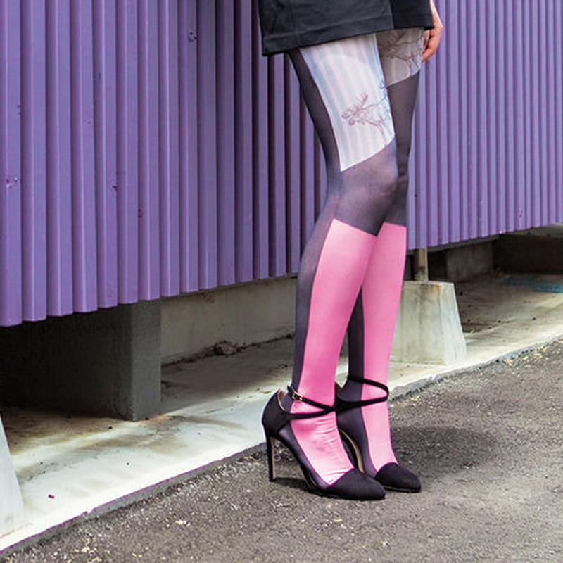 """BEAUTIFUL ORDER"" Tights Pink (moose)"
