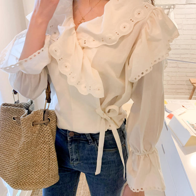Race Wrap Blouse