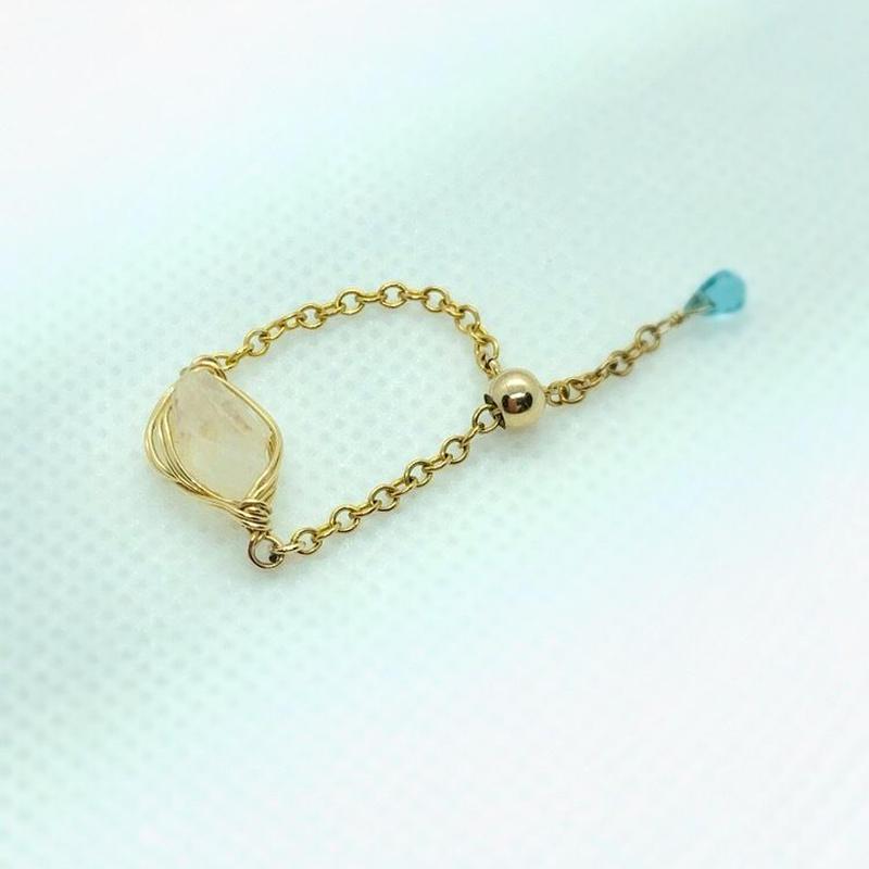 """山梨瑞牆山水晶チェーンリング """"Crystal Realize™ Jewelry"""""""