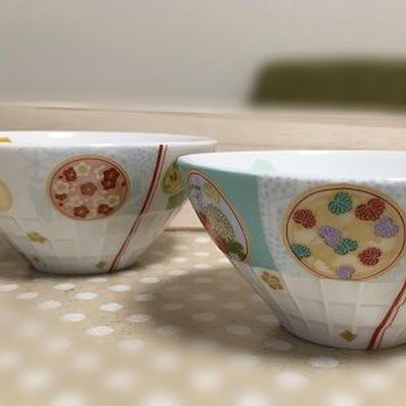 夫婦茶碗 おしゃれな和柄(桐箱入り)
