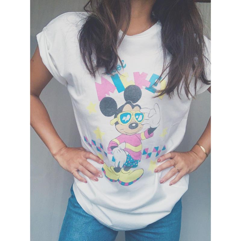 新品 moussy mickey Tシャツ