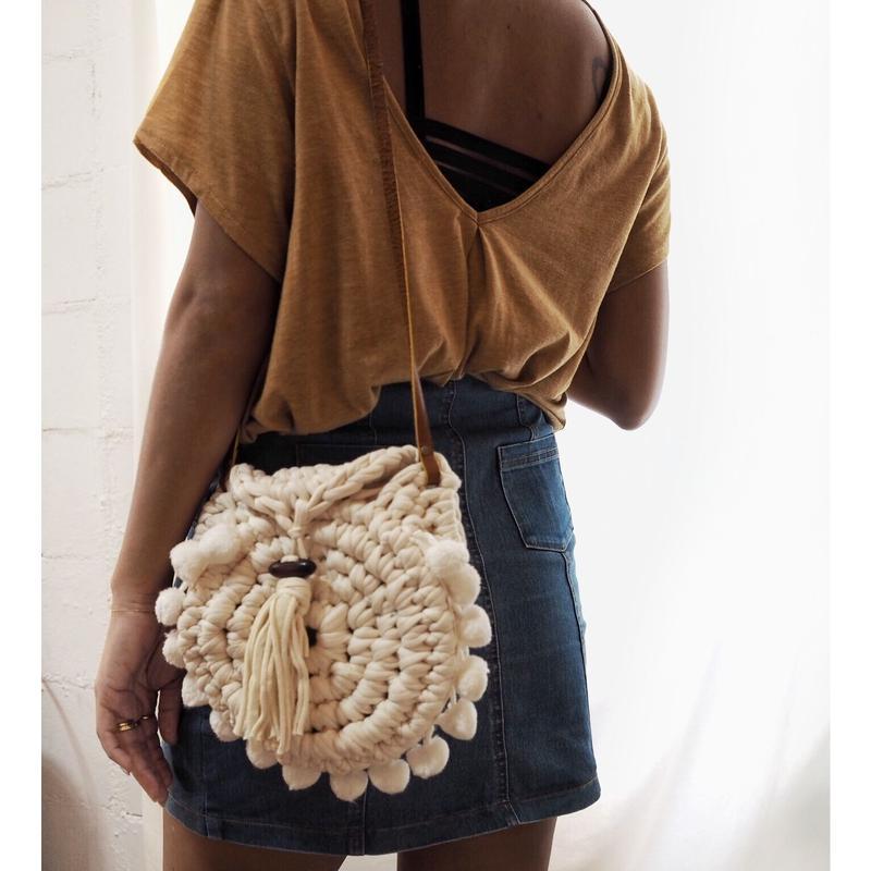 handmadeラウンドバッグ
