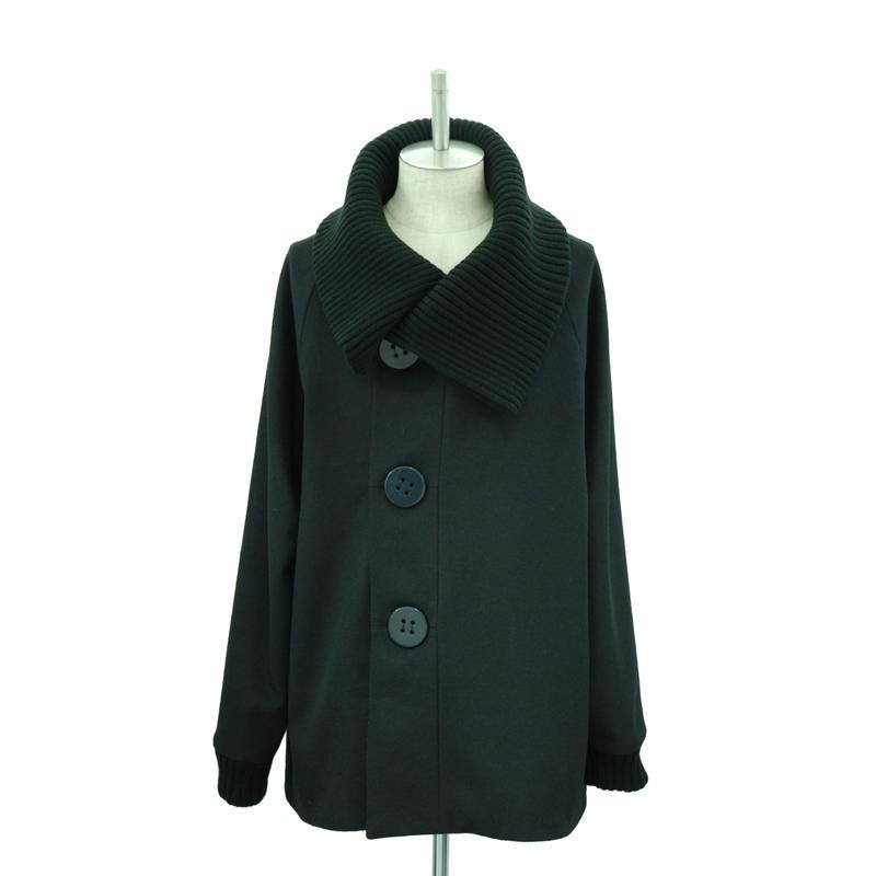 Big Button Rib Coat