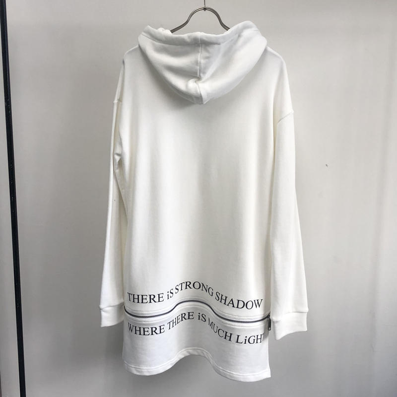 【Sample】ヘムプリントパーカー / ホワイト
