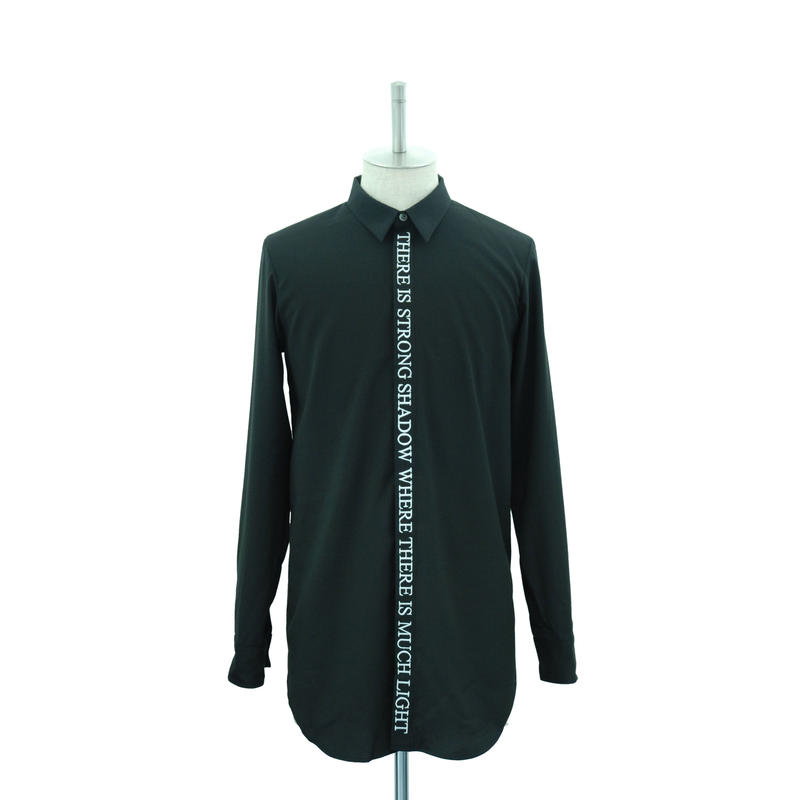 Front Embroidery Long Shirt